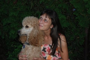 Caroline and her dog